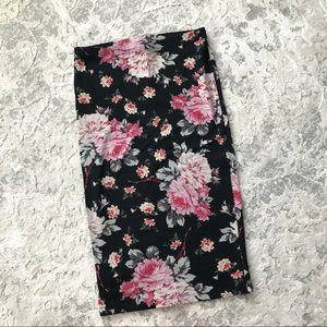 Express Floral Pencil Skirt
